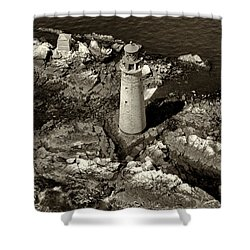To Light The Graves Black And White Shower Curtain