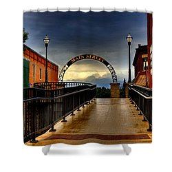 To Main Street Waupaca Shower Curtain by Thomas Young