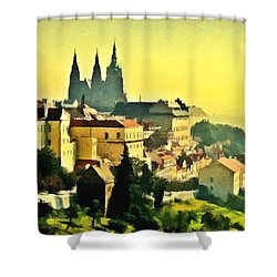 To Prague With Love... Shower Curtain