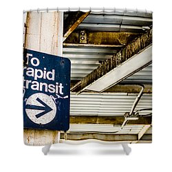 To Rapid Transit Shower Curtain