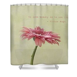 To See Light Shower Curtain by Kim Hojnacki