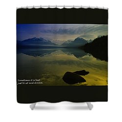 To Sit And Dream Shower Curtain by Jeff Swan