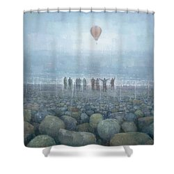 To The Mountains Of The Moon Shower Curtain by Steve Mitchell