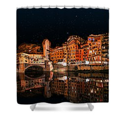 To The Right Of Ponte Vecchio #3 Shower Curtain by Aleksander Rotner