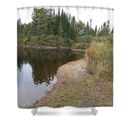 To The River Shower Curtain by Jean Macaluso