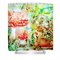 Toad And Mushroom.2 Shower Curtain by Fabrizio Cassetta