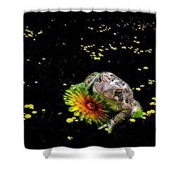 Toad In A Lions Den Shower Curtain