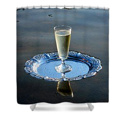 Shower Curtain featuring the photograph Toast To Life by Leena Pekkalainen