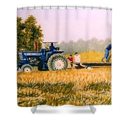 Tobacco Farmers Shower Curtain by Stacy C Bottoms