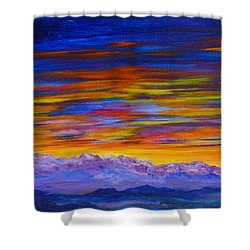Tobacco Root Mountains Sunset Shower Curtain