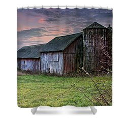 Tobin's Barn Shower Curtain by John Vose