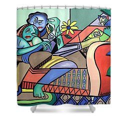 Together Again Shower Curtain by Anthony Falbo