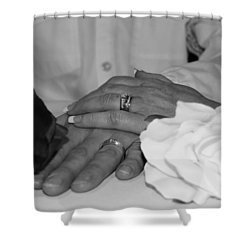 Together Forever Shower Curtain by Davandra Cribbie