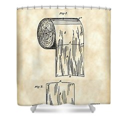 Toilet Paper Roll Patent 1891 - Vintage Shower Curtain