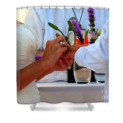Token Of Love In The Islands Shower Curtain by Patti Whitten