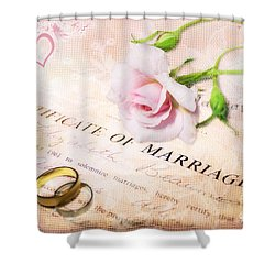 Tokens Of Love Shower Curtain by Linda Lees