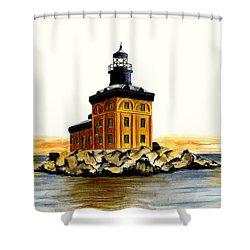 Toledo Harbor Lighthouse Shower Curtain by Michael Vigliotti