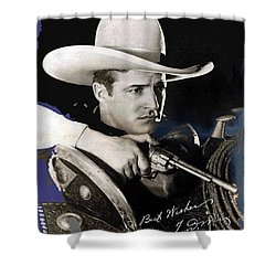 Tom Mix Portrait Melbourne Spurr Hollywood California C.1925-2013 Shower Curtain by David Lee Guss