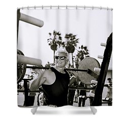 Tom Platz In Los Angeles Shower Curtain