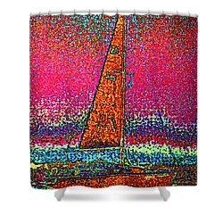 Tom Ray's Sailboat 3 Shower Curtain by First Star Art