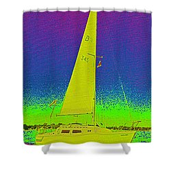 Tom Ray's Sailboat Shower Curtain by First Star Art
