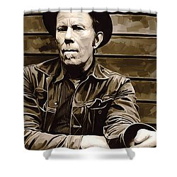 Tom Waits Artwork 2 Shower Curtain