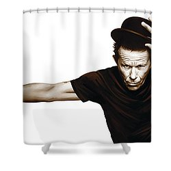 Tom Waits Artwork  4 Shower Curtain