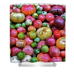 Shower Curtain featuring the photograph Tomatoes by Bill Owen