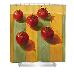 Tomatoes Shower Curtain by Cathy Locke