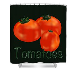 Tomatoes Shower Curtain by Christine Fournier