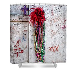 Tomb Of Marie Laveau New Orleans Shower Curtain by Kathleen K Parker