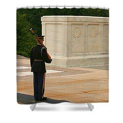 Tomb Of The Unknown Soldier Shower Curtain by Kim Hojnacki
