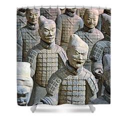 Shower Curtain featuring the photograph Tomb Warriors by Robert Meanor