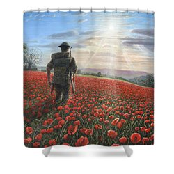 Tommy Shower Curtain by Richard Harpum