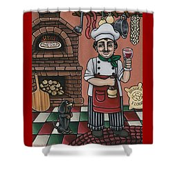 Tommys Italian Kitchen Shower Curtain