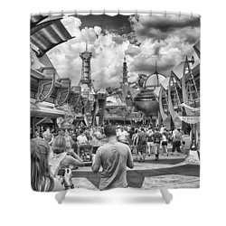 Shower Curtain featuring the photograph Tomorrowland by Howard Salmon