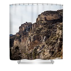 Tongue River Canyon Shower Curtain