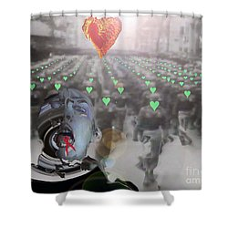 Tongue-tied Samsara Shower Curtain by Feile Case