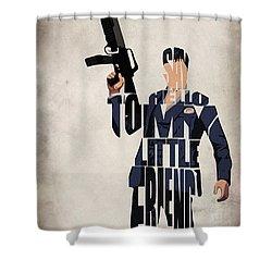 Tony Montana - Al Pacino Shower Curtain