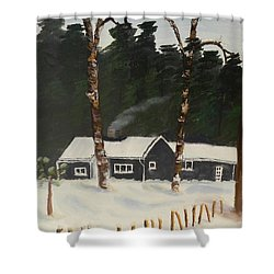 Tonys House In Sweden Shower Curtain