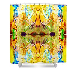 Tony's Tower Abstract Pattern Artwork By Tony Witkowski Shower Curtain by Omaste Witkowski