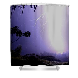 Too Close Shower Curtain by Bob Hislop