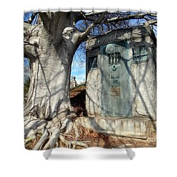 Too Close To Home Shower Curtain by Ed Weidman