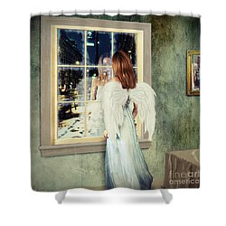 Too Cold For Angels Shower Curtain