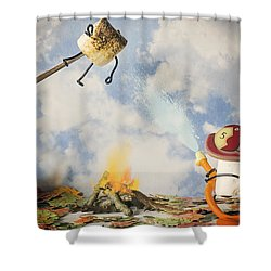 Too Toasted Shower Curtain