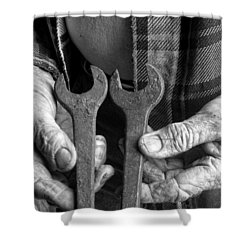 Tools Used All His Life Shower Curtain