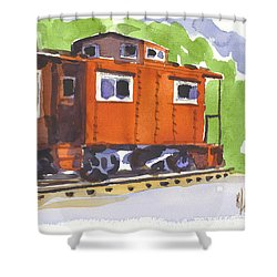 Toot Toot Shower Curtain by Kip DeVore