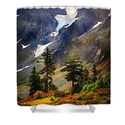 Top Of Cascade Pass Shower Curtain by Inge Johnsson