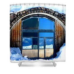 Top Of Germany Reflection Shower Curtain by The Creative Minds Art and Photography