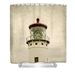 Top Of The Lighthouse Shower Curtain by Scott Pellegrin